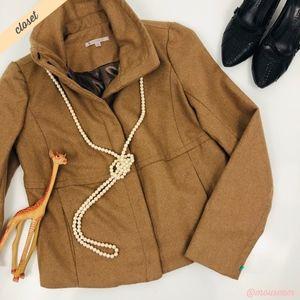 [GAP] Camel High Collar Wool Jacket